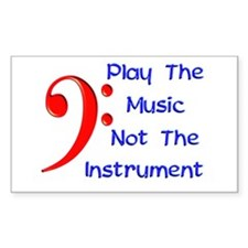 Play The Music Rectangle Decal