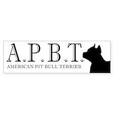 american pit bull terrier log Bumper Bumper Sticker