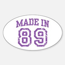 Made in 89 Oval Decal