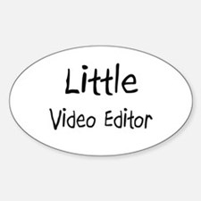 Little Video Editor Oval Decal