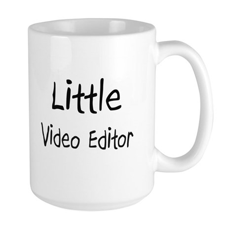 Little Video Editor Large Mug