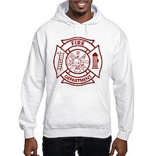 Firefighter Maltese Cross Hoodie Sweatshirt