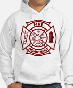 Firefighter Maltese Cross Hoodie Sweatshirt