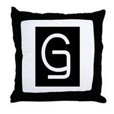 """Earwig Factory - Letter G"" Throw Pillow"