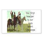 OUR FIRST TEACHER Sticker (Rectangle 50 pk)