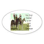 OUR FIRST TEACHER Sticker (Oval 50 pk)