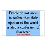 EMERSON - CHARACTOR QUOTE Sticker (Rectangle 50 pk