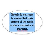 EMERSON - CHARACTOR QUOTE Sticker (Oval 10 pk)