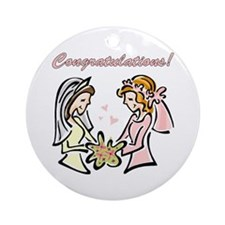 Congratulations Gay Wedding D Ornament (Round)