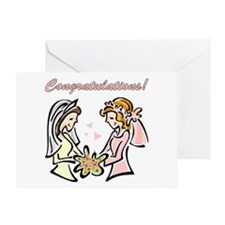 Congratulations Gay Wedding D Greeting Card