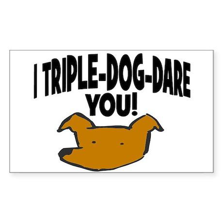 TRIPLE-DOG-DARE YOU! Rectangle Sticker 50 pk)