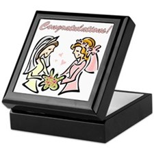 Congratulations Gay Wedding D Keepsake Box