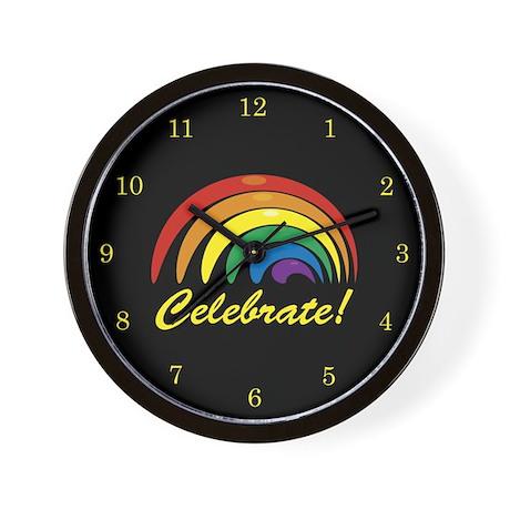 Celebrate Rainbow Wall Clock