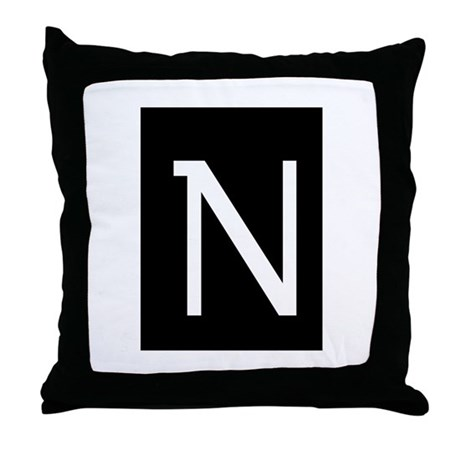 """Earwig Factory - Letter N"" Throw Pillow"