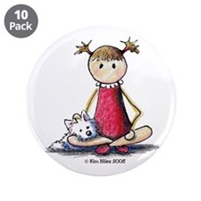 """Kit & Kaboodle 3.5"""" Button (10 pack)"""