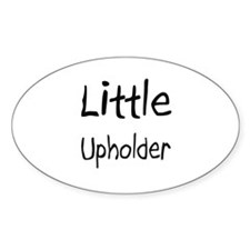 Little Upholder Oval Decal