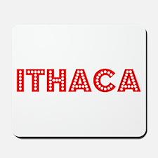 Retro Ithaca (Red) Mousepad