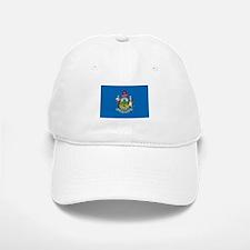 MAINE-FLAG Baseball Baseball Cap