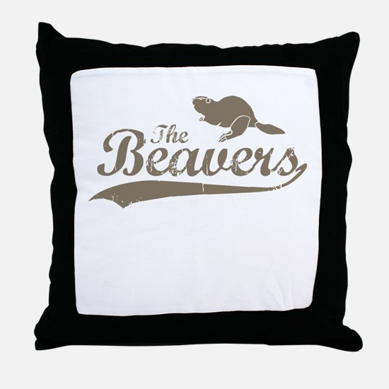 The Beavers Throw Pillow