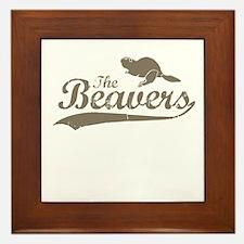 The Beavers Framed Tile