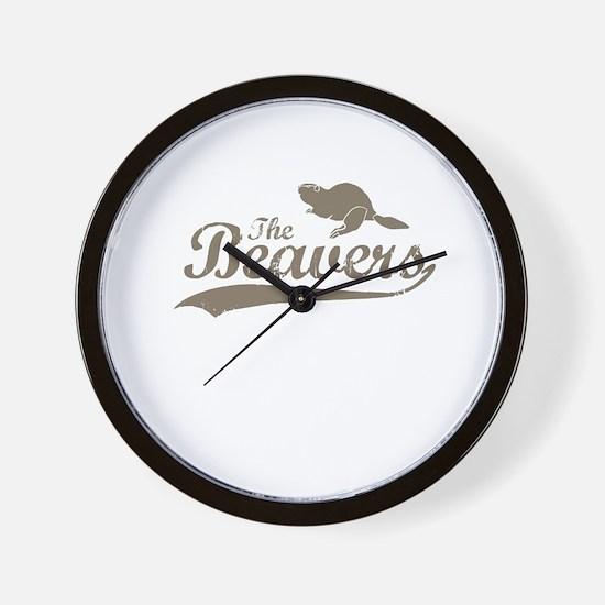 The Beavers Wall Clock