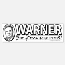 Mark Warner For President 2008 Bumper Bumper Bumper Sticker