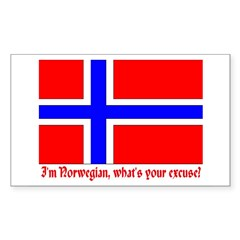 I'M NORWEGIAN, WHAT'S YOUR EXCUSE? Decal