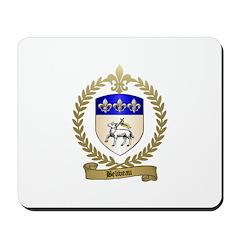 BELIVEAU Family Crest Mousepad