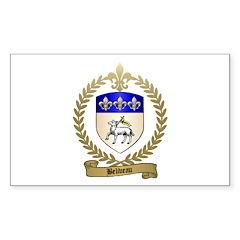 BELIVEAU Family Crest Rectangle Decal