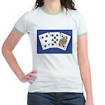 50th Gifts, 58 Queen! Jr. Ringer T-Shirt