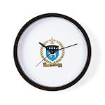 BENOIT Family Crest Wall Clock