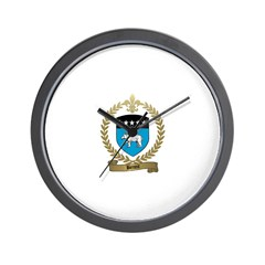 BENOIT Family Crest Wall Clock