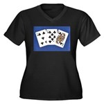 50th Gifts, 58 Queen! Women's Plus Size V-Neck Dar