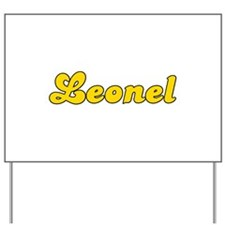 Retro Leonel (Gold) Yard Sign