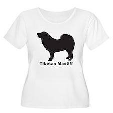 TIBETAN MASTIFF Womens Plus-Size Scoop Neck T