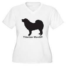 TIBETAN MASTIFF Womes Plus-Size V-Neck T-Shirt