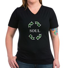 Recycled Soul Women's V-Neck Dark T-Shirt