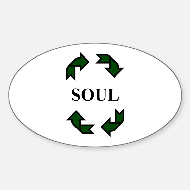 Recycled Soul Oval Decal