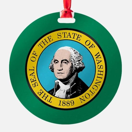 Washington State Flag Ornament