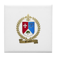 BOISVERT Family Crest Tile Coaster
