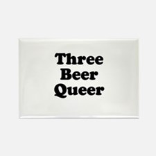 Three beer queer Rectangle Magnet