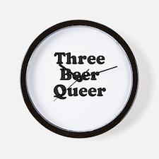 Three beer queer Wall Clock