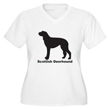 SCOTTISH DEERHOUND Womes Plus-Size V-Neck T-Shirt