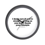 I don't care if you're straight Wall Clock