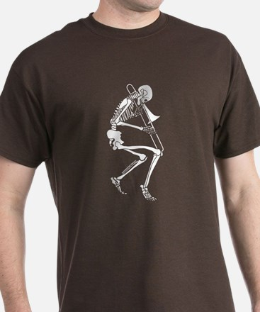 Skeleton Trombonist T-Shirt