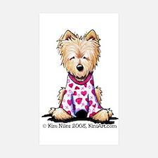 PJs Norwich Terrier Rectangle Sticker 10 pk)