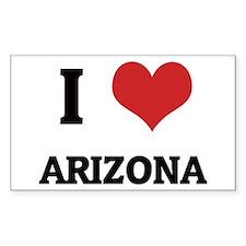 I Love Arizona Rectangle Decal