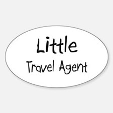 Little Travel Agent Oval Decal