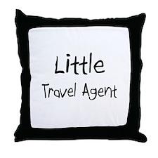 Little Travel Agent Throw Pillow