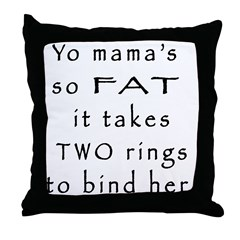 Two Rings Throw Pillow